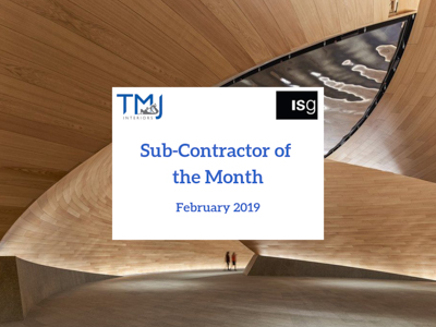 SUB-CONTRACTOR OF THE MONTH